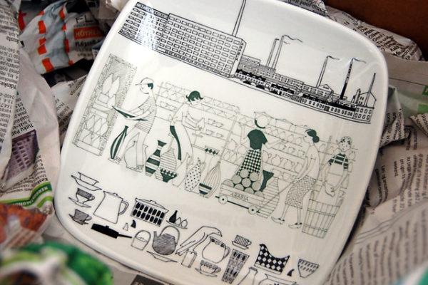 アラビア工場のプレート
