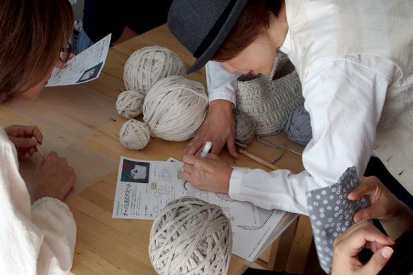 フィンランドの糸を使ったバスケット作り講座