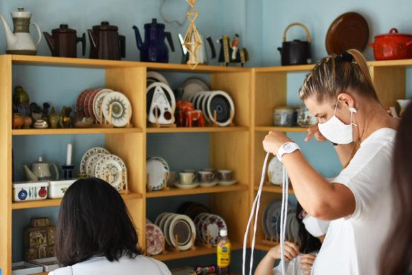 ワークショップ、フィンランドの手工芸でポーチとペットの首輪