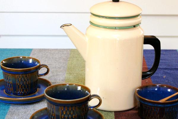 布フィルター付きコーヒーポット