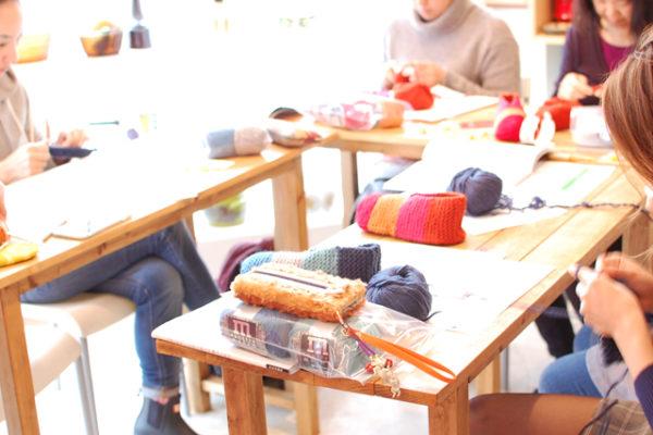 フクヤのワークショップ、「しずく堂の手編みこもの」と猫バスケット