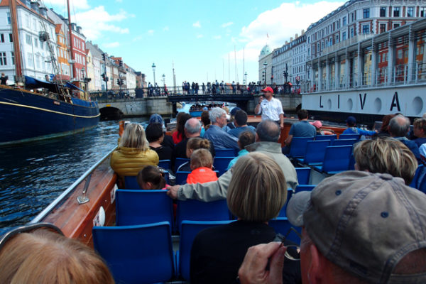 コペンハーゲンで遊覧船