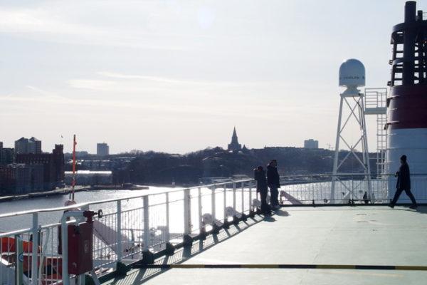 ストックホルムからヘルシンキへフェリーで移動