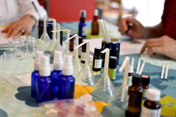 ワークショップ、アロマでバーチサップの化粧液