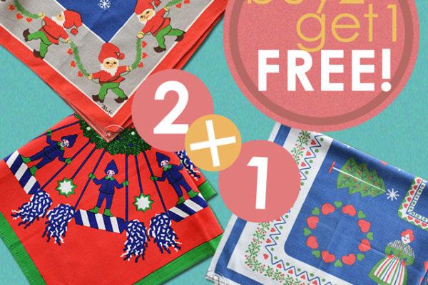 クリスマスクロスBuy2 Get1 FREE!キャンペーン!